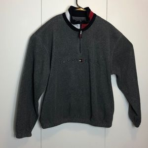 Vintage 90s Tommy Hilfiger Spell Out Fleece